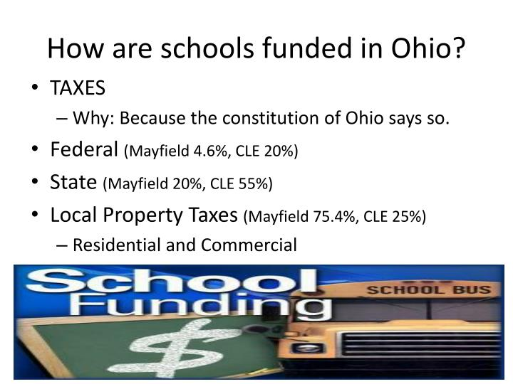 how are schools funded in ohio n.