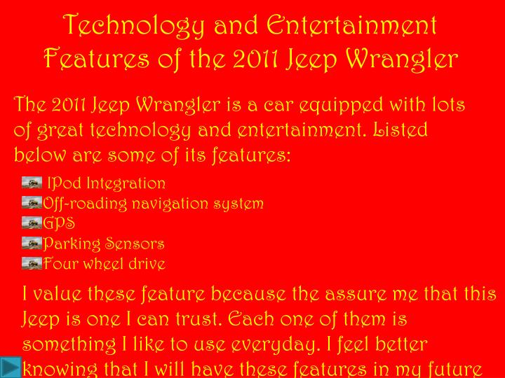 Technology and Entertainment Features of the 2011 Jeep Wrangler