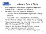 adjacent criteria study