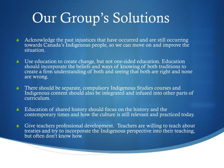 Our Group's Solutions