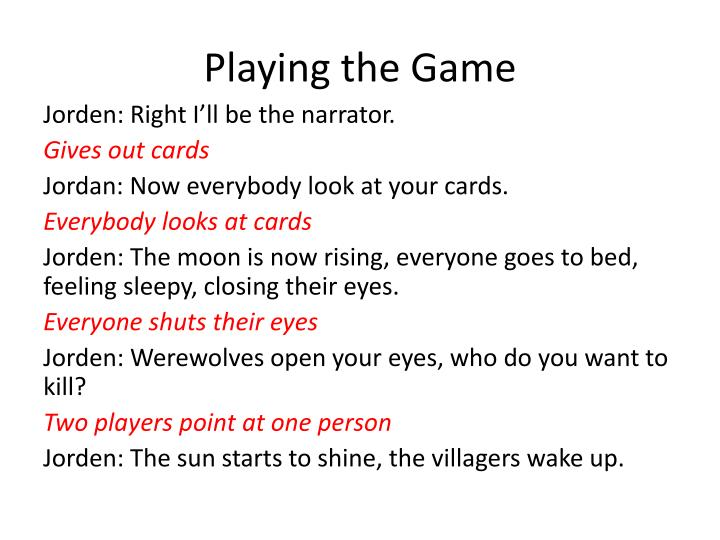 playing the game n.