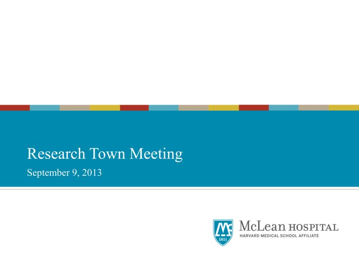 research town meeting n.