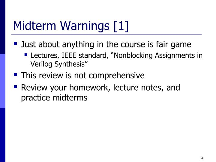 Midterm Warnings [1]