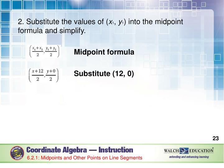 2. Substitute