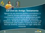 lei civil do antigo testamento