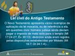 lei civil do antigo testamento1