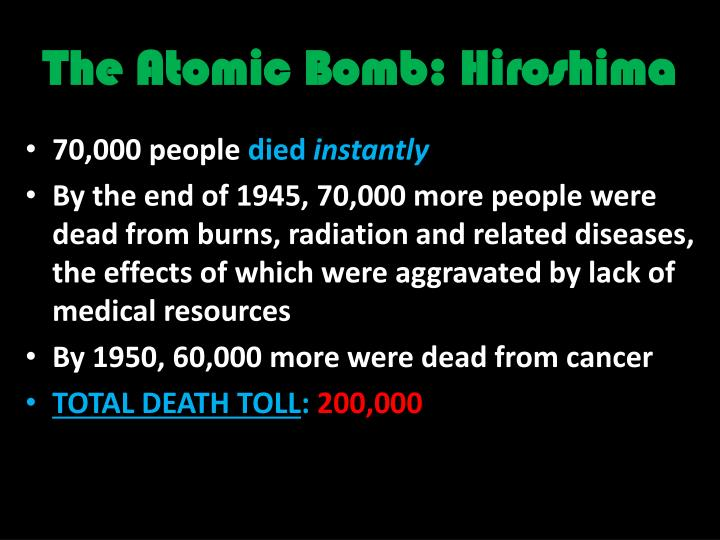 The atomic bomb hiroshima
