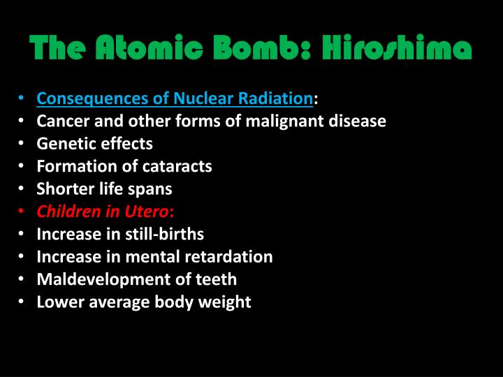 The Atomic Bomb: Hiroshima