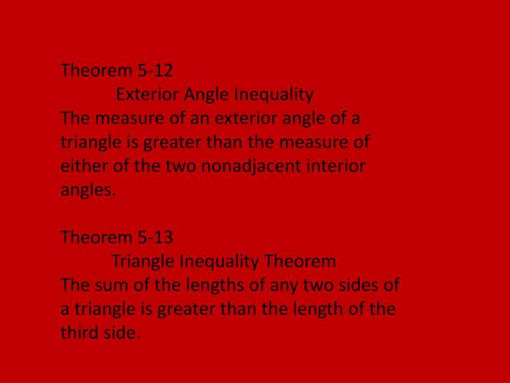 Theorem 5-12