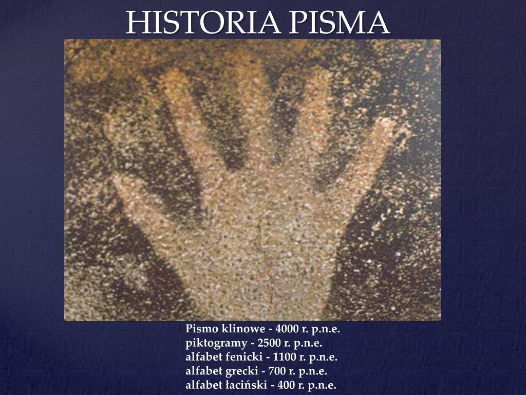Ppt Historia Pisma Powerpoint Presentation Free Download Id