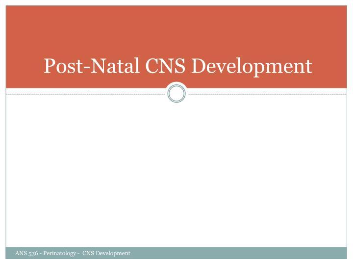 Post-Natal CNS Development