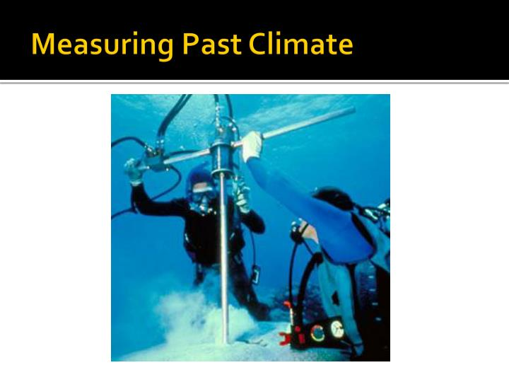 measuring past climate n.