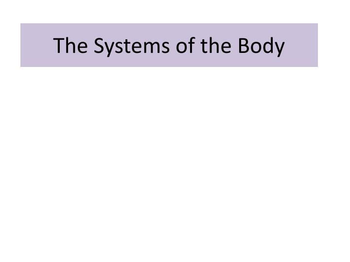 the systems of the body n.