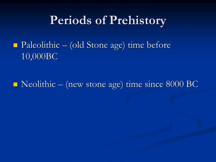 Periods of prehistory