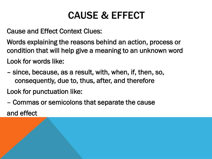another word for cause and effect