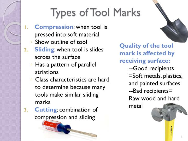 types of tool marks n.