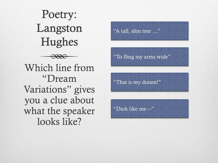 Poetry: Langston Hughes