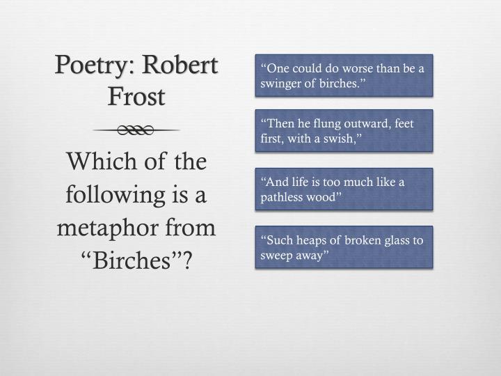 Poetry: Robert Frost