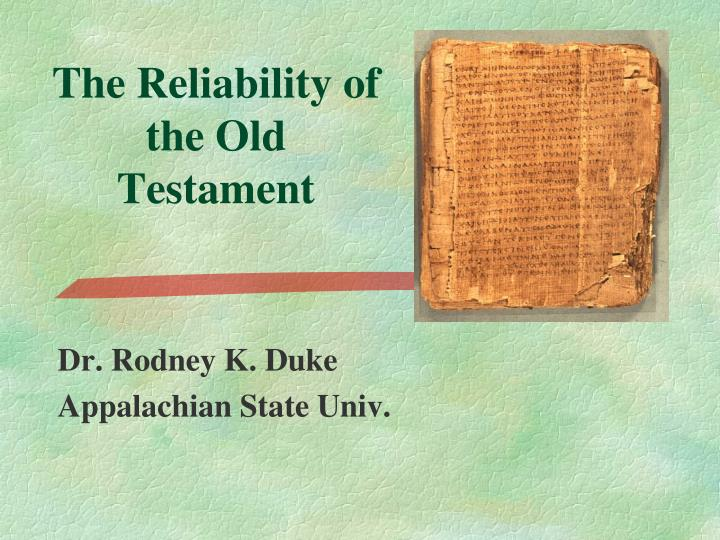 the reliability of the old testament n.