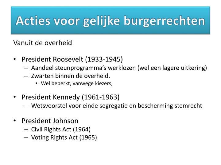 Acties voor gelijke burgerrechten