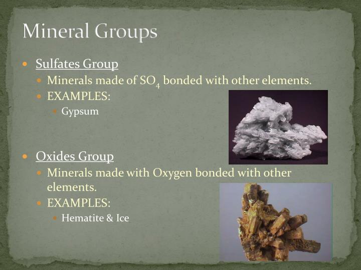 Mineral Groups