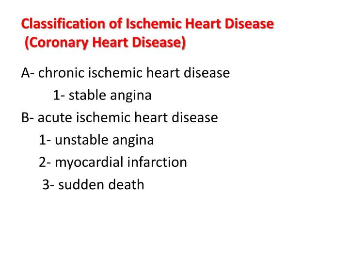 the clinical description of coronary heart disease Coronary artery disease (cad) is the most common form of heart disease cad and its complications, like arrhythmia, angina pectoris, and heart attack (also called myocardial infarction), are the leading causes of death in the united states.
