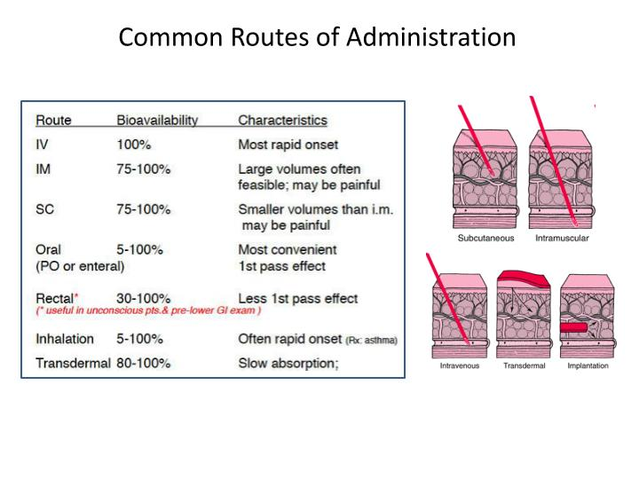 Common Routes of Administration