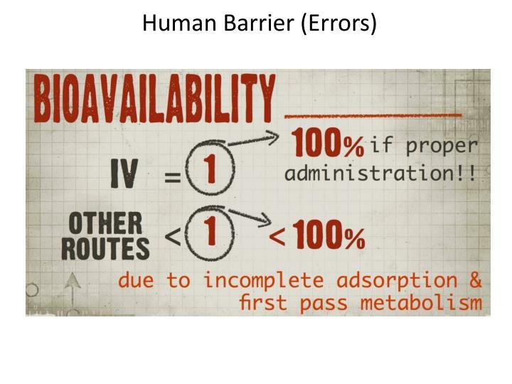 Human Barrier (Errors)