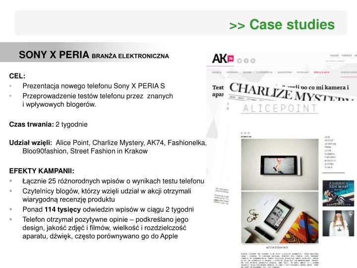 >> Case studies
