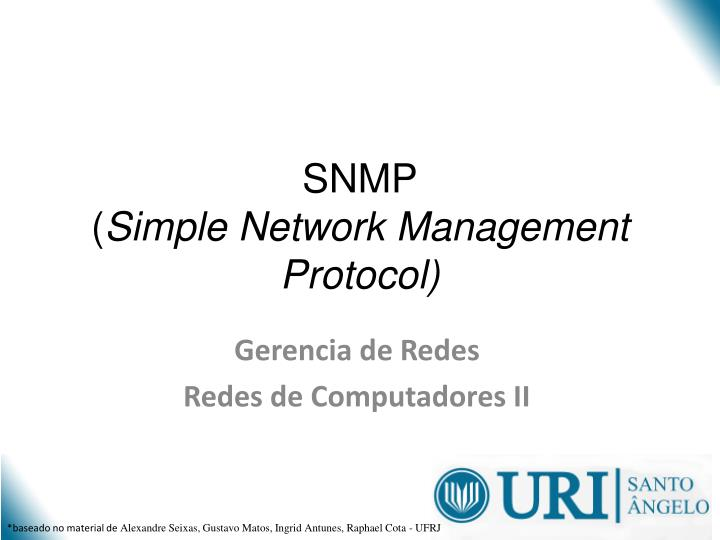 snmp simple network management protocol n.
