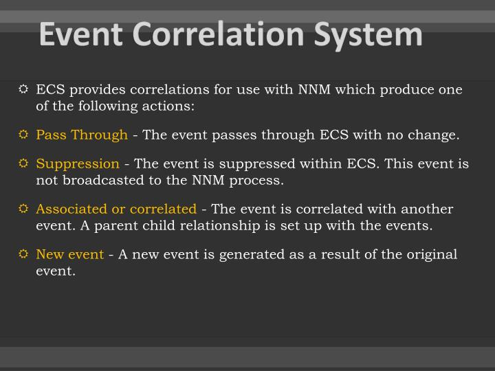 Event Correlation System