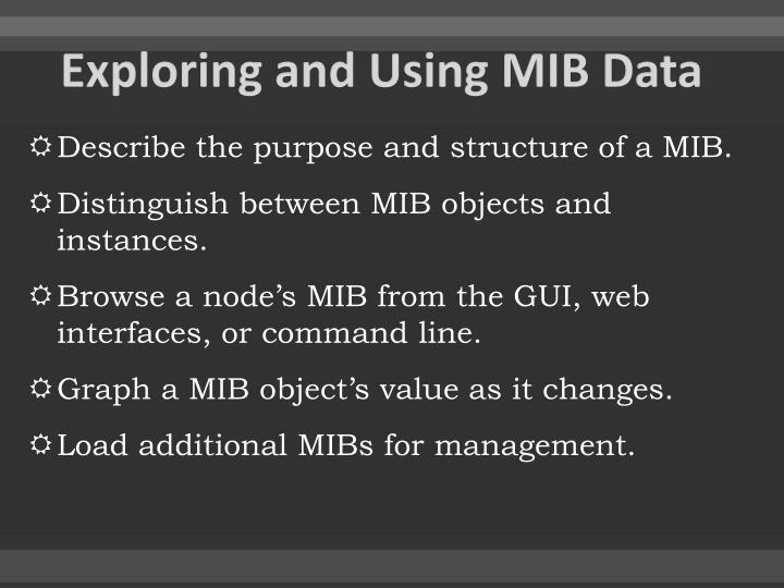 Exploring and Using MIB Data