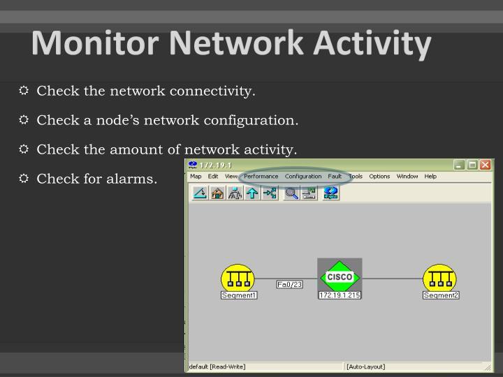 Monitor Network Activity