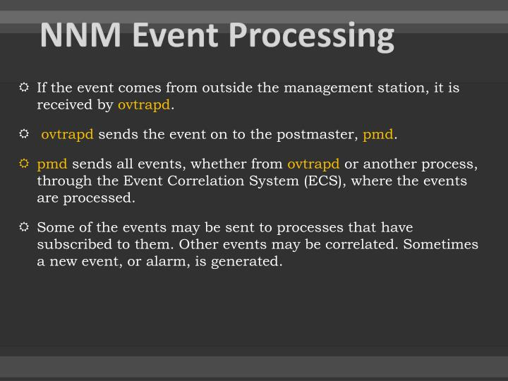 NNM Event Processing