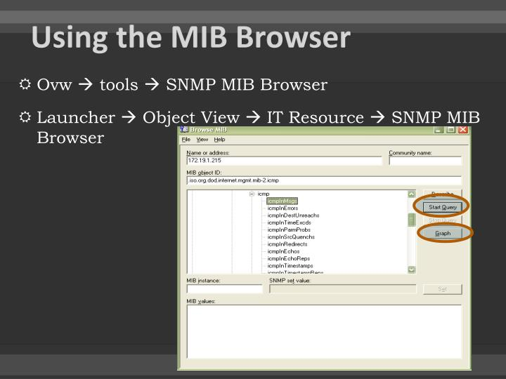 Using the MIB Browser
