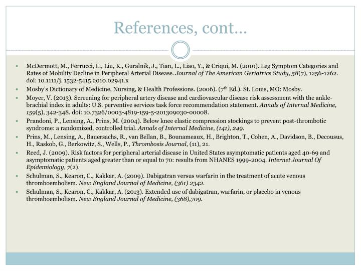 References, cont…