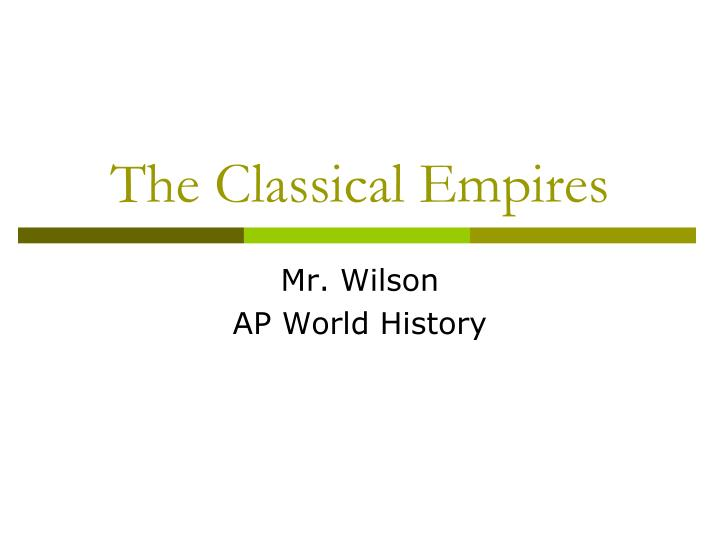 the classical empires n.