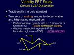 viability pet study chronic lvef dysfunction