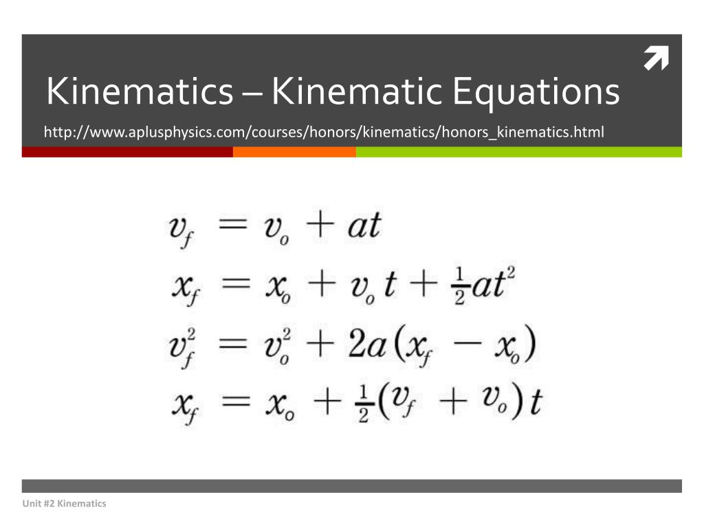 ppt kinematics kinematic equations powerpoint presentation id