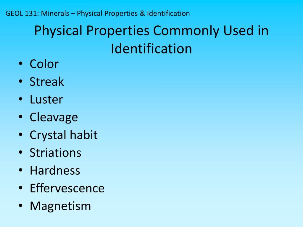 PPT - MINERALS PowerPoint Presentation - ID:2027509