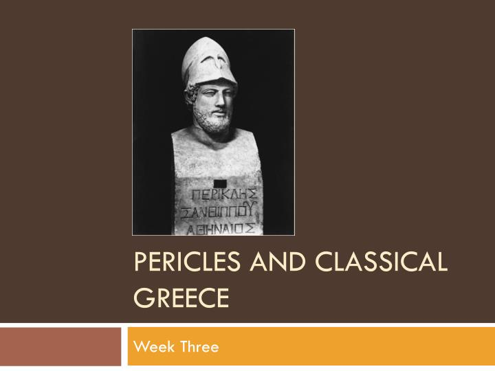 pericles and classical greece n.