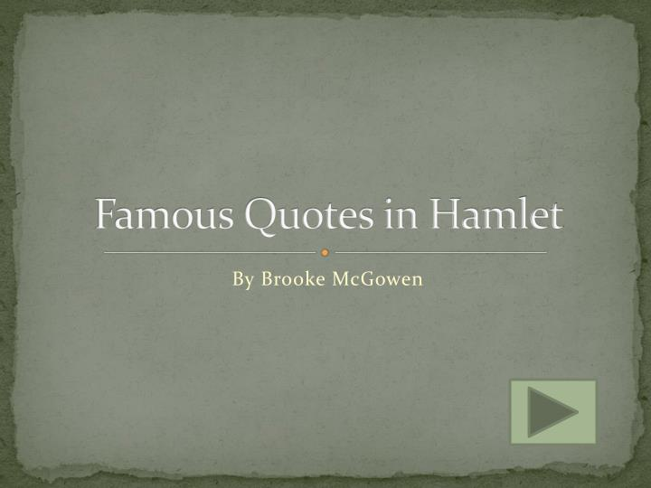 famous quotes in hamlet n.