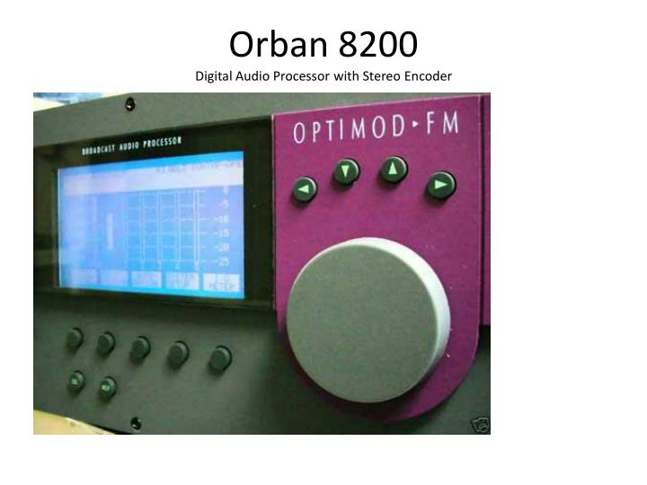 orban 8200 digital audio processor with stereo encoder n.