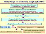 study design for culturally adapting remas1