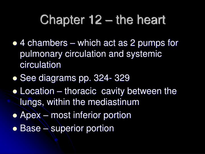 chapter 12 the heart n.