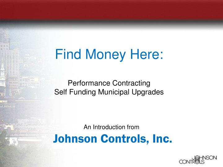 an introduction from johnson controls inc n.