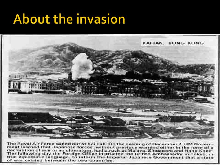 About the invasion