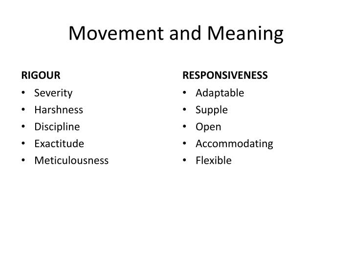 movement and meaning n.