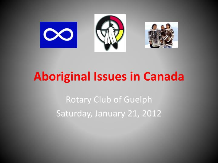 aboriginal issues in canada n.