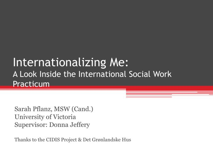 internationalizing me a look inside the international social work practicum n.